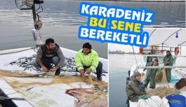 Karadenizli balıkçılar ilçemiz limanına...