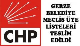 CHP Listeyi Teslim Etti