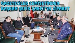 Sinop 15 Eylül Gazeteciler Cemiyetinden Başkan Çakıcı'ya Ziyaret