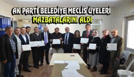Ak Parti Belediye Meclis Üyeleri Mazbatalarını...