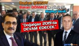 Başkan Şensoy Doğalgaz Müjdesini Verdi
