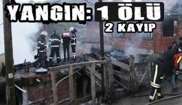 Türkeli'de yangın: 1 ölü 2 kayıp