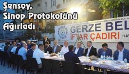Sinop Protokolü İftar Çadırında