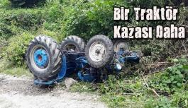Türkmen Köyü Mevkiinde Traktör Kazası