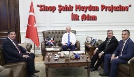 Sinop Meydan Projesinde İlk Adım