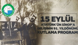 Sinop Valiliği 15 Eylül Programı