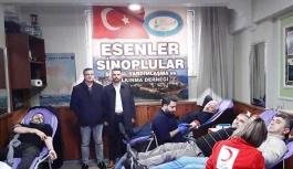 SİNDEF ve Esenler Sinoplular Derneğinden Kan Bağışı