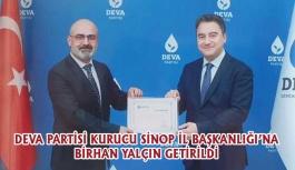 DEVA Partisi Sinop Kurucu İl Başkanını Atadı