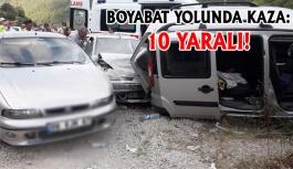Sinop Boyabat Yolunda Kaza