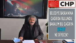 CHP İlçe Örgütünden Belediye Başkanına Çağrı