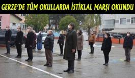 Gerze'de tüm okullarda İstiklal Marşı...