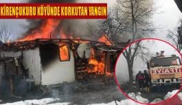 Kirençukuru Köyü'nde Korkutan Yangın