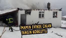Boyalıca köyü imamının evi yandı