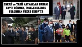 Bakan Dönmez, Sinop'ta