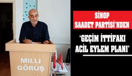 Sinop Saadet Partisi'nden 'Acil Eylem...