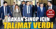 Bakan Ünal Sinop için talimat verdi