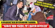 Barış Karadeniz Gerze Pazarını Gezdi