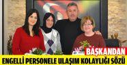 Belovacıklı'dan Engelli Personele Ulaşım...