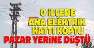 Elektrik Hattı Pazar Yerinin Üzerine Düştü