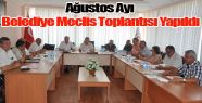 Gerze Belediyesi Ağustos ayı Meclis Toplantısı Yapıldı