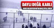 Gerze Belediyespor Maçı Yoğun Kar Yağışı...