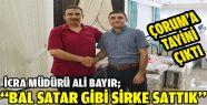 Gerze İcra Müdürü Ali Bayır'ın tayini...