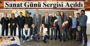 Gerze'de Dünya Sanat Günü Sergisi Açıldı