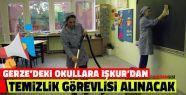 Gerze'deki Okullara İŞKUR'dan Temizlik...