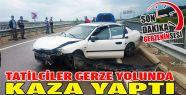 Gerze'ye Gelen Tatilciler Kaza Yaptı