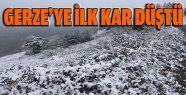 Gerze'ye İlk Kar Düştü