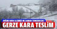 Gerze'ye Nisan Ayında Kar Yağdı