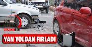 İlçemizde Kaza: Yan Yoldan Caddeye Fırladı