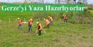 İŞKUR İşçileri Gerze'yi Yaza Hazırlıyor