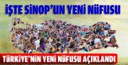 İşte Sinop'un Yeni Nüfusu