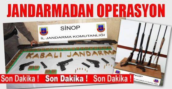 Jandarmadan ruhsatsız silah operasyonu