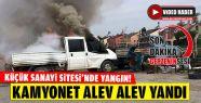 Kamyonet Alev Alev Yandı