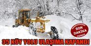 Kar Yağışı Nedeniyle 35 Köy Yolu Ulaşıma...