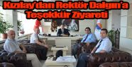 Kızılay'dan Rektör Dalgın'a Teşekkür...