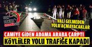 Köylüler Gerze-Sinop Yolunu Trafiğe Kapadı