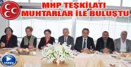 MHP teşkilatı muhtarlar ile kahvaltıda...