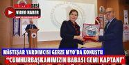 Müsteşar Yardımcısı Gerze MYO'da Konuştu
