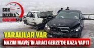 Nazım Maviş'in Aracı Gerze'de Kaza Yaptı