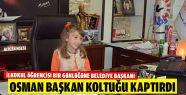 Osman Başkan Koltuğunu İlkokul Öğrencisine...