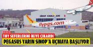 Pegasus Yarından İtibaren Sinop'a Uçmaya...