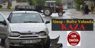 Sinop Bafra Yolunda Kaza