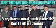 Sinop Defterdarı Vergi Borcu Konusunda...