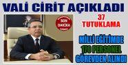 Sinop Valisi 116 Zanlıdan 37 Zanlının...