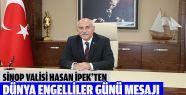 Sinop Valisi'nden 3 Aralık Dünya Engelliler...