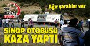 Sinop'a Giden Yolcu Otobüsü Kaza Yaptı