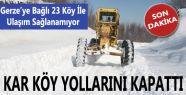 Sinop'ta 277, Gerze'de 23 köy yolu ulaşıma kapandı